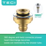 TECI Kink-free Shower Hoses 119 Inch Extra Long Handheld Showerhead Hose Explosion-proof Replacement 360 Degree Swivel