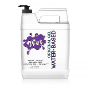 Wet Water Based Original Personal Lubricant One Gallon, 128 oz