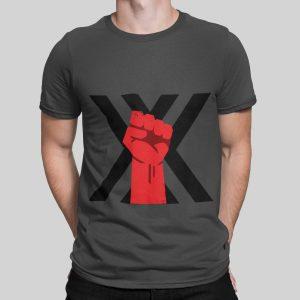 xxx fist t-shirt grey