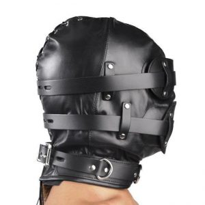 The Total Lock Down Leather Hood